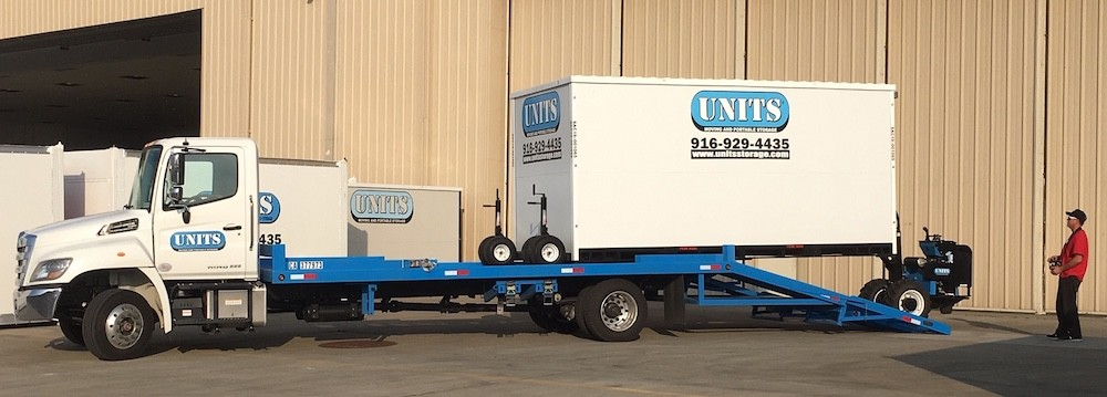 UNITS loading up a container for portable storage in citrus heights, ca