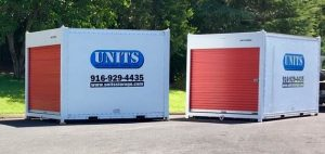 UNITS offers multiple sizes of portable storage containers in Carmichael